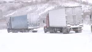 Snow strands truckers and commuters on U.S. highway in Kentucky