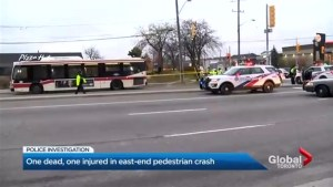 1 dead, 1 injured in east-end pedestrian crash