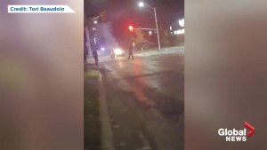 Car catches fires at intersection of Waterloo and Oxford Street