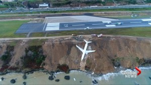 Plane skids off Turkish runway on Black Sea coast, passengers unhurt