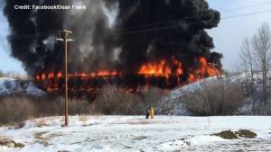 Historic Porcupine Plain, Sask. train bridge destroyed by fire (01:00)