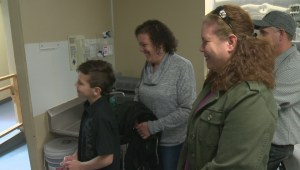 Eight year old boy gives local family shelter a much-needed boost.