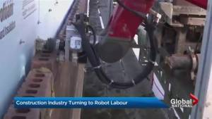 Construction industry turning to robot labour