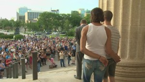 Hundreds gather at legislative building to honour Orlando shooting victims