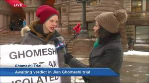 Protester outside Jian Ghomeshi trial courthouse says verdict won't change stance on sexual assault