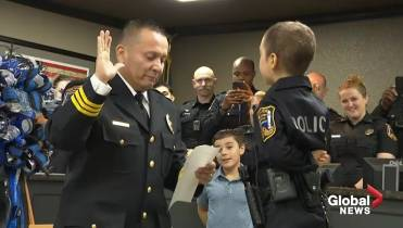 6-year-old Texas girl with cancer becomes an honorary police officer