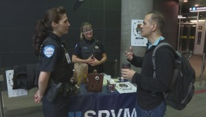 Police officers have coffee with Montrealers