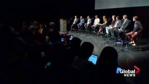 Calgary's mayoral candidates address public art controversy at election forum (02:01)