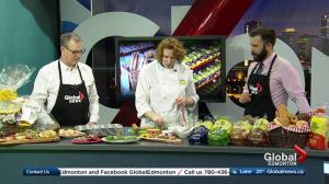 In the Global Edmonton kitchen with Kinnikinnick Foods