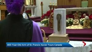 Arm of St. Francis Xavier on tour