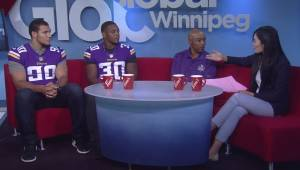 The Minnesota Vikings in Winnipeg to encourage kids to stay active