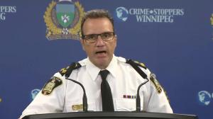 Winnipeg police chief speaks after off-duty cop charged in fatal crash