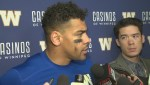 RAW: Bombers' Andrew Harris following loss to Tiger-Cats
