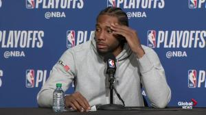 Kawhi Leonard on Raptors fans: 'they were big for us'