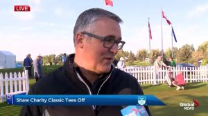 Shaw Charity Classic tees off!