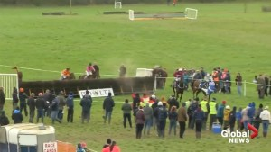 Jockey makes incredible recovery after nearly tumbling from his mount