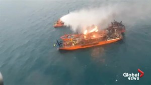 At least 10 dead, 10 missing as fire rages on Black Sea ships