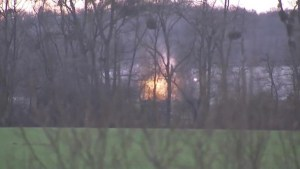 Raw video: Explosions at warehouse northeast of Paris during siege on suspects