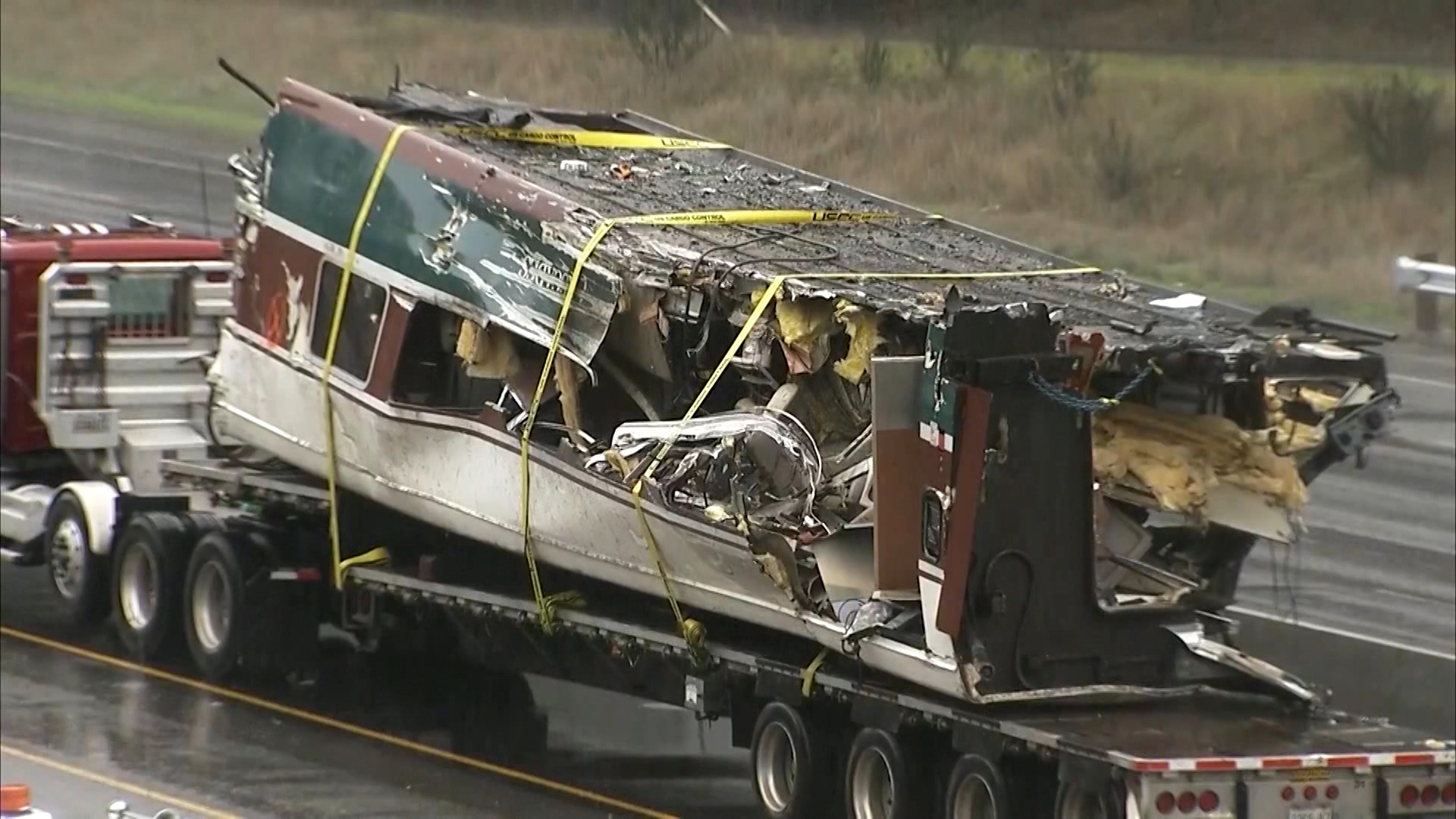 Inside the wrecked Amtrak train in Washington state