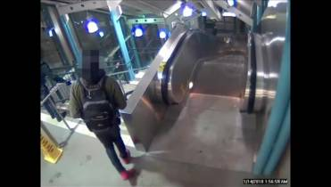 e3200b12 WATCH ABOVE: Edmonton police release shocking video of a woman being kicked  down the stairs at the Belvedere LRT station in January.