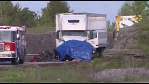 Two dead in Hwy. 401 crash near Odessa
