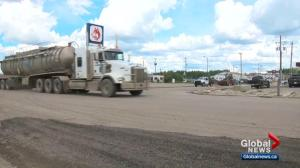 Truckers will soon have to pay new fee when passing through Fox Creek