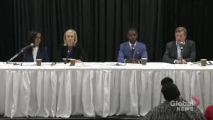 Candidates square off in mayoral debate focusing on issues related to Toronto's black community