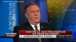 CIA director tells Fox News North Korea under pressure to negotiate