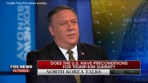 CIA director tells Fox News North Korea under pressure to negotiate