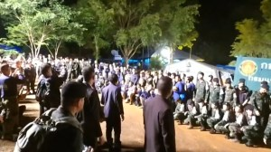 Thai prime minister visits cave where 5 members of soccer team remain trapped