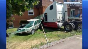 Man faces attempted murder charges after transport truck crashes into Belleville building