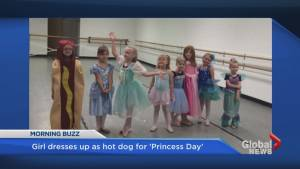 Girl dresses as a hot dog for 'Princess Day' and wins the Internet