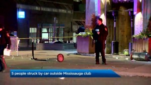 Multiple people injured after being struck by vehicle outside Mississauga bar