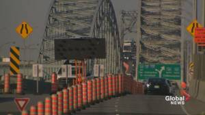 New traffic pattern on the Mercier Bridge