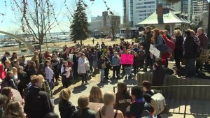 Kingston students protest education cuts