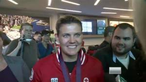 Christine Sinclair welcomed home
