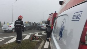 3 dead, 57 injured in massive pile-up on highway in Romania