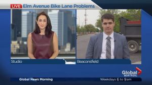 New bike path construction causes traffic confusion
