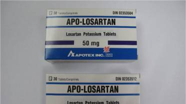 Blood-pressure drugs containing Losartan recalled due to