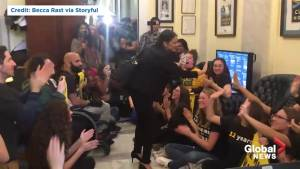 Alexandria Ocasio-Cortez briefly attends sit-in at Nancy Pelosi's office