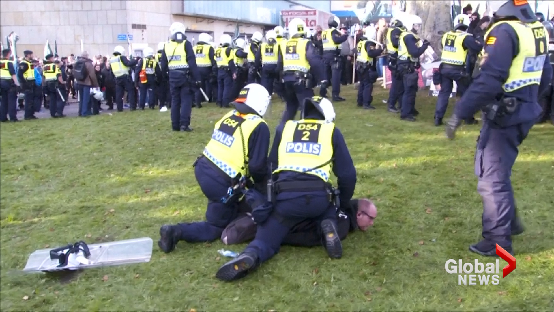 Arrests As Hundreds of Neo-Nazis March in Gothenberg, Sweden