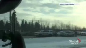 Viewer video shows Alberta RCMP converging on Calgary murder suspect