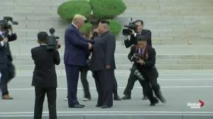 Trump becomes first sitting U.S. president to step into North Korea
