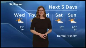A stretch of warm weather expected, but rain possible for the weekend