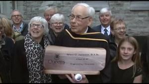 93-year-old receives his degree at Queen's University 7 decades later