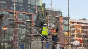 Crews remove controversial Cornwallis statue from Halifax park