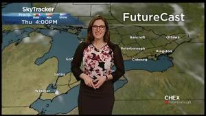 CHEX weather update: A sunny weekend on the way but slightly cooler for Saturday (01:02)