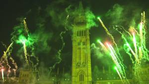 Parliament Hill lights up with spectacular Christmas show