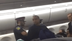 Cellphone captures arrest of man who allegedly assaulted flight attendant on board Air Canada flight
