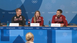 Canada's Kaitlyn Lawes and John Morris on their gold medal win.
